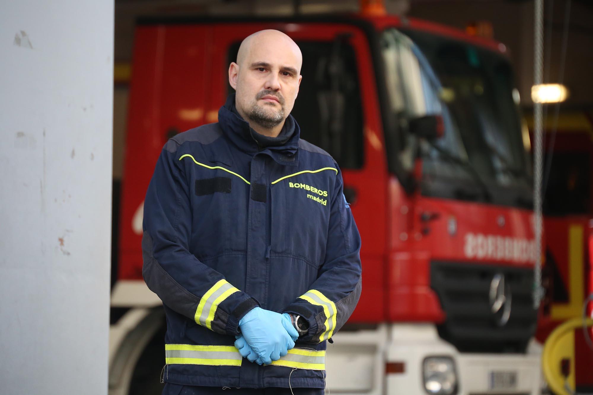 David Gómez, bombero, delegado de CCOO