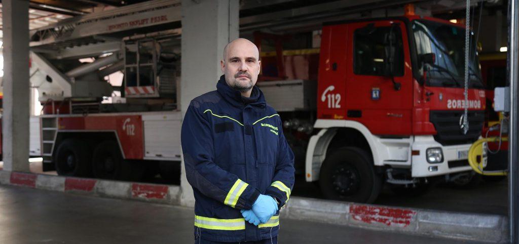 David Gómez, bombero del Ayuntamiento de Madrid