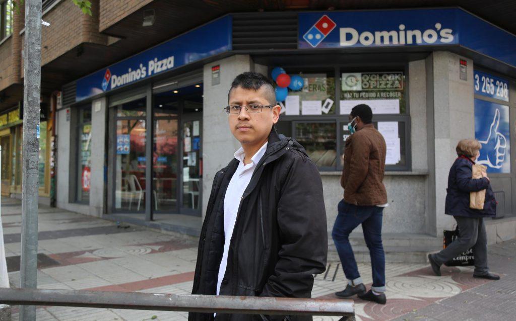 Raúl Calderón, repartidor de comida rápida y delegado de CCOO