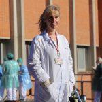 Mercedes Romero, delegada de CCOO en el Hospital de Leganés, simboliza el valor de lxs trabajadorxs de los servicios esenciales.
